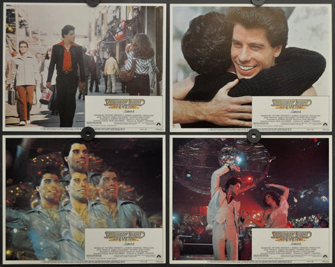 Saturday Night Fever - Original 1977 Movie Theatre Lobby Card Set of 8