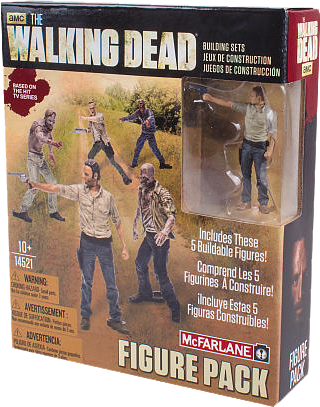 The Walking Dead - 5 Figure Building Set Pack