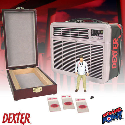 Dexter - 3 3/4-Inch Figure with Blood Slide Box in Tin Tote