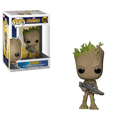 Avengers: Infinity War - Teen Groot with Gun Pop! Vinyl Figure - Pre-Order