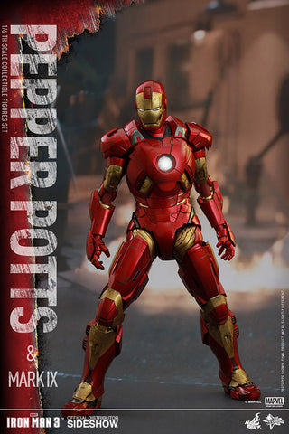 Iron Man 3 - Pepper Potts & Mark IX 1:6 Scale Action Figure Set