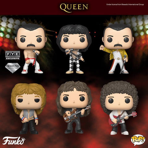 Queen - Set of 6 Pop! Rocks: Queen Pop! Vinyl Figures - Pre-Order