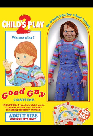 Child's Play 2 - Adult Deluxe Good Guy Chucky Costume - Pre-Order