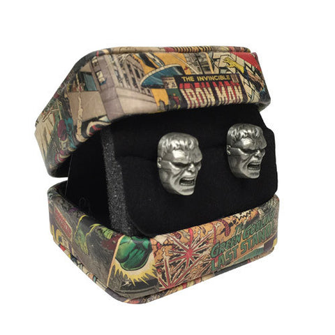The Hulk - Marvel 3-D Hulk Face Cufflinks