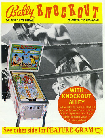 1975 Bally Pinball Machine - Knockout