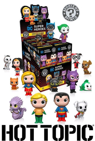 DC: Super Heroes & Pets - Hot Topic Exclusive Mystery Mini Blind Box Case of 12 Figures