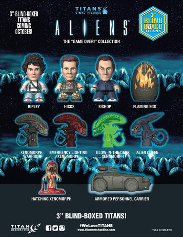 Aliens - Game Over Titans Mystery Mini Blind Box: Case Of 18 Figures - Pre-Order