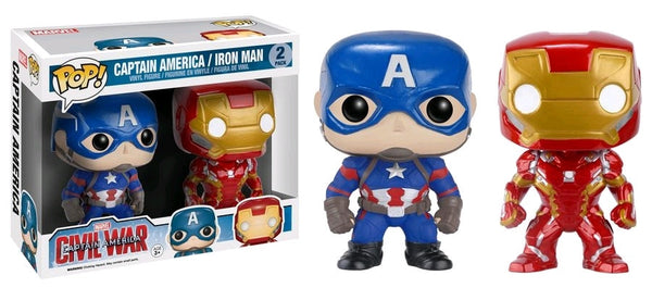 Captain America: Civil War - Iron Man & Captain America Pop! Vinyl Figure 2 Pack