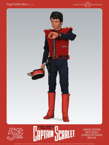 "Captain Scarlet and the Mysterons - Captain Scarlet 12"" 1:6 Scale Figure - Pre-Order"