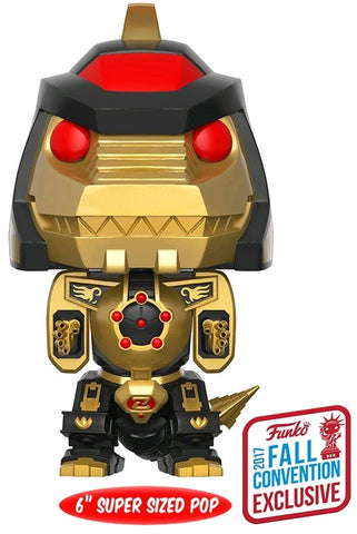 "Power Rangers - 6"" Black & Gold Dragonzord NYCC 2017 Exclusive Pop! Vinyl Figure"