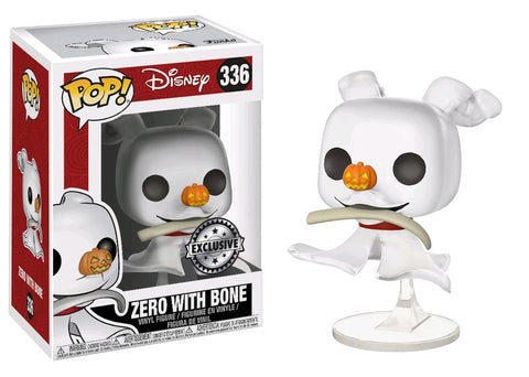 The Nightmare Before Christmas - Zero with Bone Pop! Vinyl Figure: Case of 6 with A Chase - Pre-Order