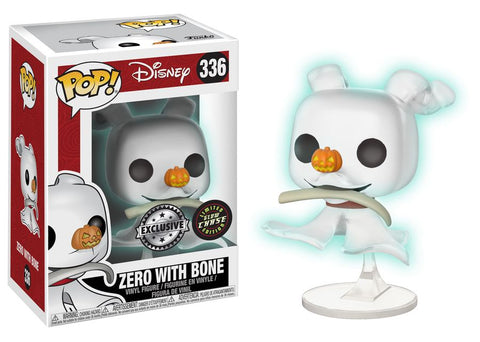 The Nightmare Before Christmas - Zero with Bone Pop! Vinyl Figure (With Chance Of A Chase Variant) - Pre-Order