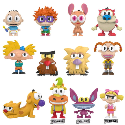 Nickelodeon - 90's Cartoons Toys R Us Exclusive Mystery Mini Blind Box Case of 12 Figures
