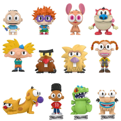 Nickelodeon - 90's Cartoons Hot Topic Exclusive Mystery Mini Blind Box Case of 12 Figures - Pre-Order