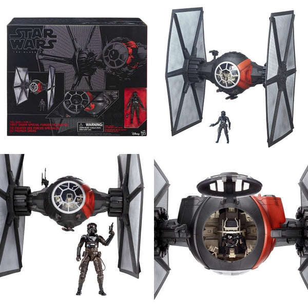 Star Wars - The Force Awakens: The Black Series Deluxe First Order TIE Fighter Vehicle with Pilot