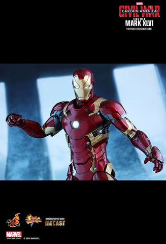 "Captain America: Civil War - Iron Man Mark XLVI Diecast 12"" 1:6 Scale Action Figure"