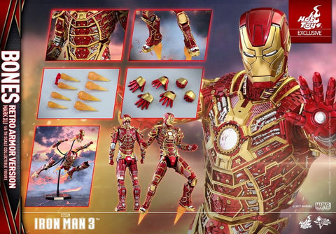 "Iron Man 3 - Mark XLI Bones 12"" 1:6 Scale Action Figure"