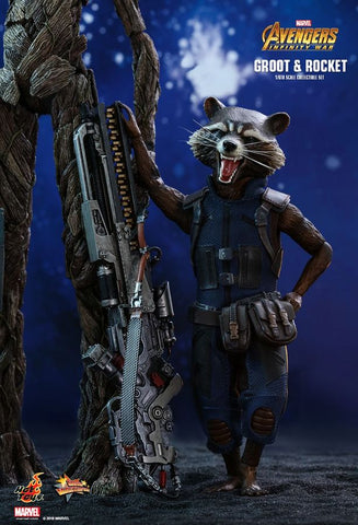 "Avengers: Infinity War - Groot & Rocket 12"" 1:6 Scale Action Figure Set - Pre-Order"