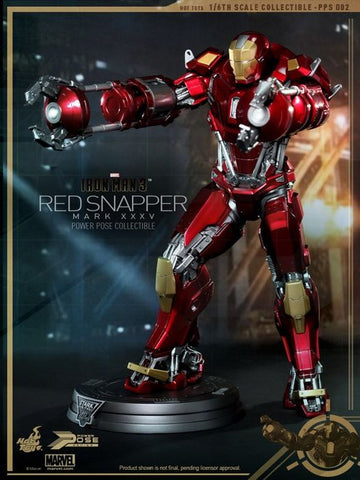 Iron Man 3 - Mark XXV Red Snapper Power Pose 1:6 Scale Poseable Statue