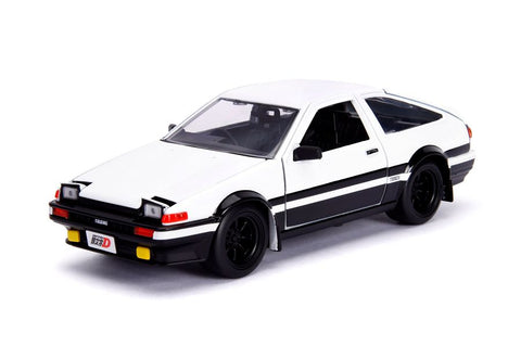 Initial D - 1986 Toyota Corolla Trueno AE86 1:24 Scale Diecast Vehicle