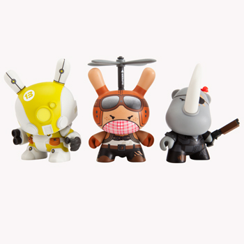 "Post Apocalypse by Huck Gee - 3"" Dunny Mystery Mini Figures: Case of 16 Blind Boxes"