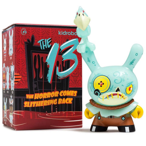 "The 13: The Horror Comes Slithering Back - 3"" Dunny Mystery Mini Figures: Case of 24 Blind Boxes - Pre-Order"