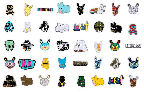 Kidrobot - Pinning & Winning 2: The Revenge Enamel Pin Series: Case of 20 Blind Boxes - Pre-Order