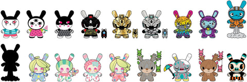"Designer Toy Awards -  3"" Dunny Mystery Mini Figures: Case of 24 Blind Boxes"