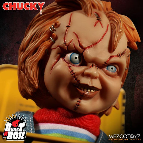 Child's Play: Bride of Chucky - Scarred Chucky Burst a Box Jack-in-the-Box - Pre-Order