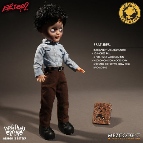 "Living Dead Dolls - Evil Dead 2 Deadite Ash 10"" Doll"