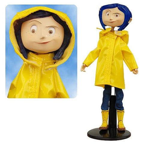 "Coraline - Coraline in Rain Coat 7"" Bendable Doll - Pre-Order"