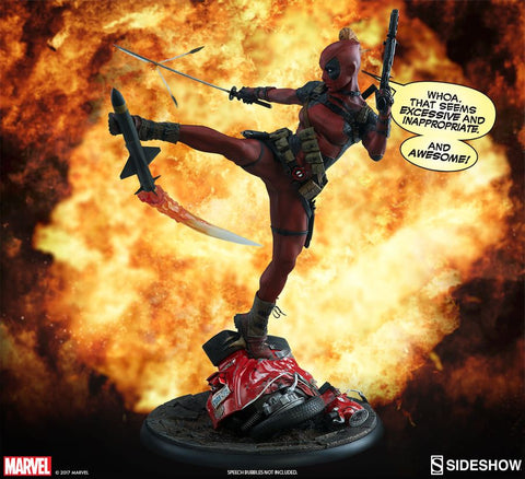 Deadpool - Lady Deadpool Premium Format 1:4 Scale Statue - Pre-Order
