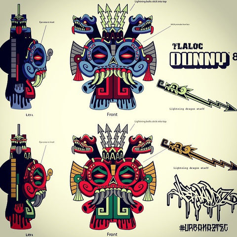"Dunny - 8"" Tlaloc Dunny Vinyl Figure by Jesse Hernandez - Pre-Order"
