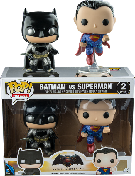 Batman v Superman: Dawn of Justice - Metallic Pop! Vinyl Figure 2-Pack