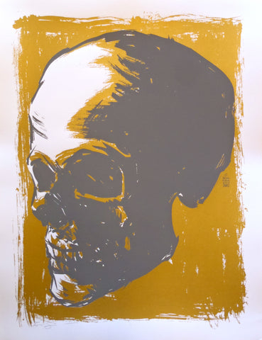 Brian Ewing - 2007 Gold Skull Signed Limited Edition Print