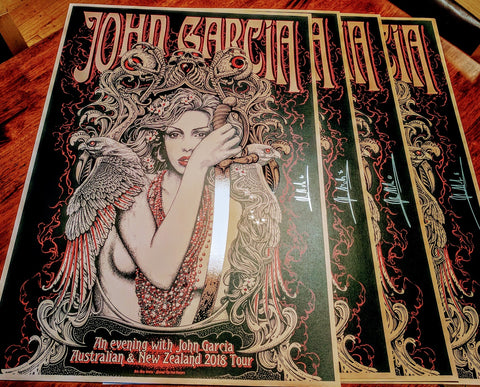 John Garcia - Autographed 2018 Australian & New Zealand Tour Limited Edition Print - Pre-Order