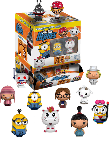 Despicable Me 3 - Walmart Exclusive Pint Size Heroes Mystery Mini Blind Bags Case of 24 Figures