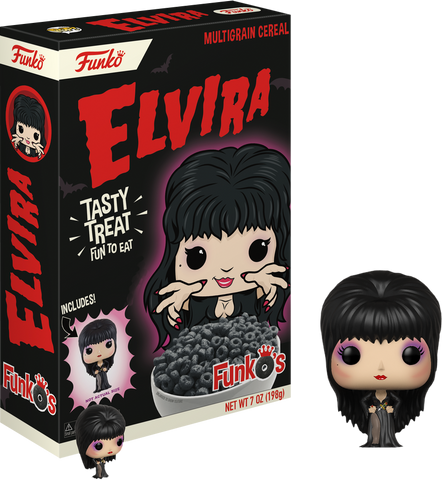 Elvira - FunkO's Cereal with Elvira Pocket Pop! Vinyl Figure - Pre-Order