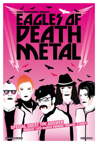 Eagles of Death Metal - The Enmore Sydney Ltd Edition Print