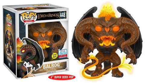 "NYCC 2017 Exclusive - Lord of the Rings: 6"" Glow-in-the-Dark Balrog Pop! Vinyl Figure"