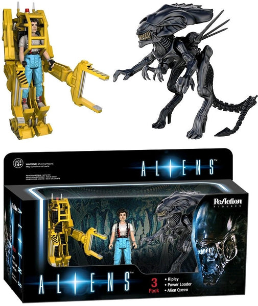 Aliens - Ripley, Power Loader and Xenomorph Queen ReAction Figure 3-Pack
