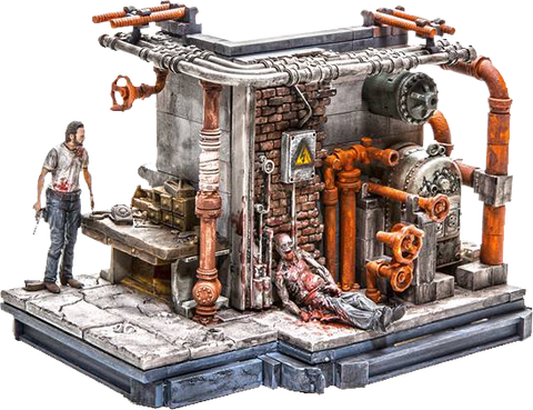 The Walking Dead - Prison Boiler Room Building Set