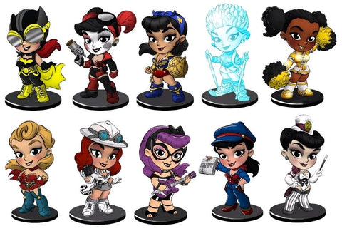 DC Bombshells: Lil' Bombshells Series 2.5 Vinyl Figure Blind Box Case of 12 Figures - Pre-Order