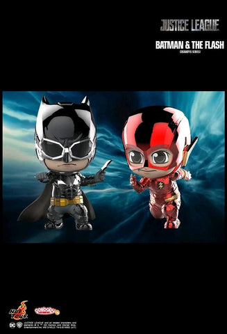 Justice League (2017) - Batman & Flash Metallic Cosbaby Hot Toys Figure Set - Pre-Order