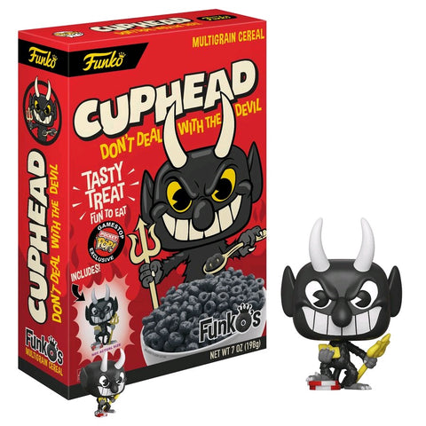 Cuphead - FunkO's Cereal with Devil Pocket Pop! Vinyl Figure - Pre-Order