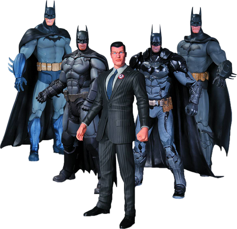 Batman - Arkham Series Batman Action Figures 5-Pack Set
