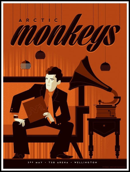 Arctic Monkeys - Wellington NZ Limited Edition Silkscreen Print