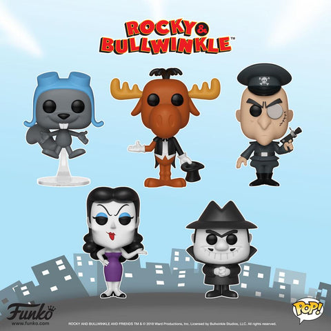 Rocky & Bullwinkle - Bundle Set of 5 Pop! Vinyl Figures - Pre-Order