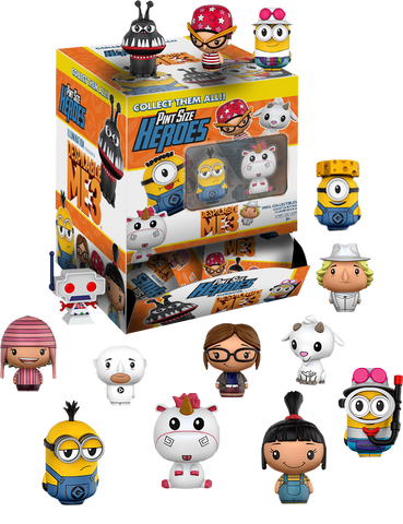 Despicable Me 3 - Target Exclusive Pint Size Heroes Mystery Mini Blind Bags Case of 24 Figures