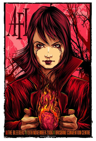 AFI & The Bleeders - 2006, Brisbane Limited Edition Print
